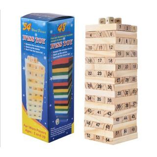 Bộ đồ chơi rút gỗ loại to ( 54 thanh)