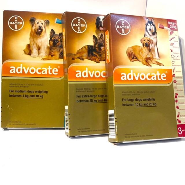 Nhỏ Gáy Trị Ve Chó Advocate Cho Chó Mèo 1 tuýp