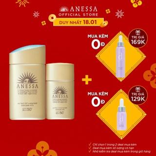 """Bộ đôi chống nắng bảo vệ hoàn hảo Anessa Perfect UV Sunscreen Skincare Milk giá chỉ còn <strong class=""""price"""">60.900.000.000đ</strong>"""