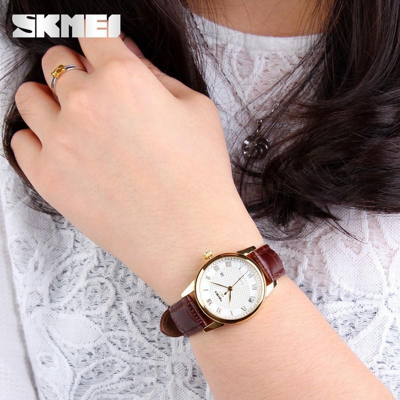 Đồng hồ nữ Skmei dây da thời trang