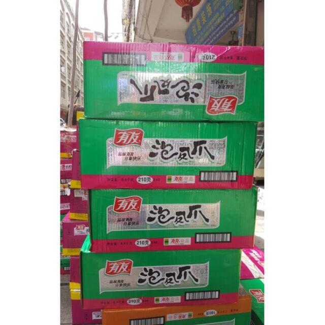 Sỉ 1 thùng 40 gói chân gà yuyu xanh tím 210gr