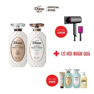 Cặp Gội Xả Phục Hồi Tóc Sáng Bóng Dành Cho Tóc Nhuộm -Moist Diane Extra Shine 450mlx2