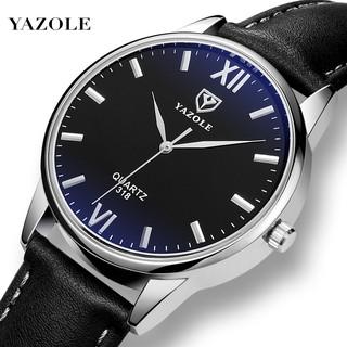 Đồng hồ nam YAZOLE YA030108 doanh nhân 2020 dây da PU cao cấp thumbnail