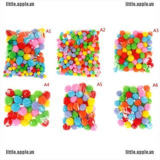 [LI] 10-50mm Multicolor pompoms pom-pom kindergarten dIY art craft kids educational [LEVN]