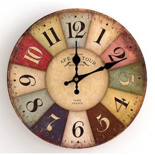 [Hàng loại 1] Đồng hồ treo tường Vintage mã A22 - đường kính 22cm