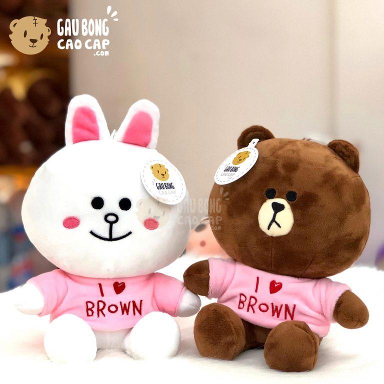 Gấu Bông Cony Brown mặc áo thun - Shop Gấu Bông gaubongcaocap