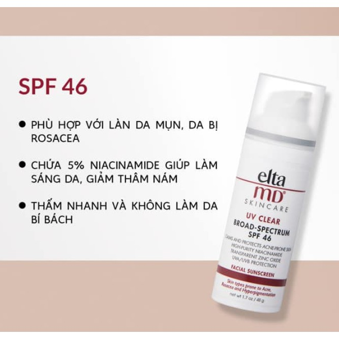 [Sample 2g] Kem chống nắng Elta MD SPF 30 - SPF 46 - SPF 41 - SPF 40 - SPF 44 - SPF 45 - SPF 47 SPF 50 untinted & tinted