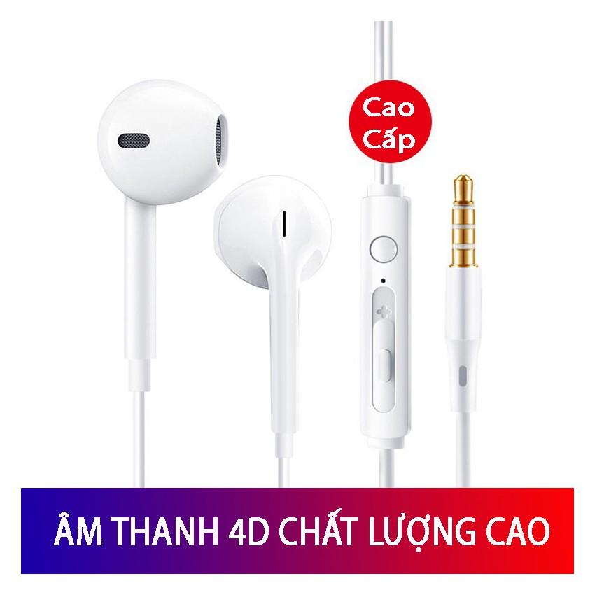 Tai nghe nhét tai âm thanh HD - Mic đàm thoại - sử dụng cho máy tính điện thoại app android  - Tuxa store