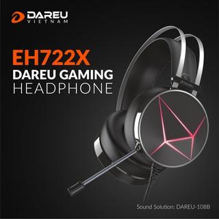 Tai nghe DareU EH722X /EH722s Black 7.1 BH 1 năm chính hãng