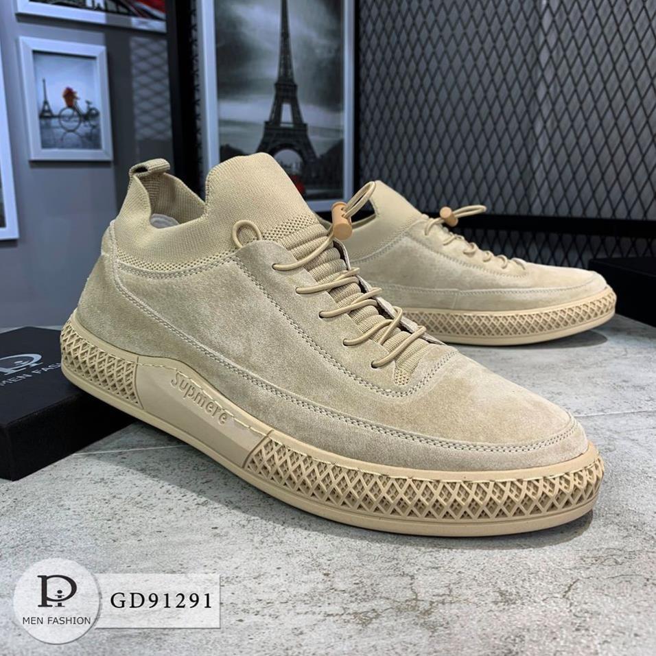Giày Sneaker Nam Thời Trang Cao Cấp - Giày Da Lộn Tôn Dáng GD91291 SneakerNam