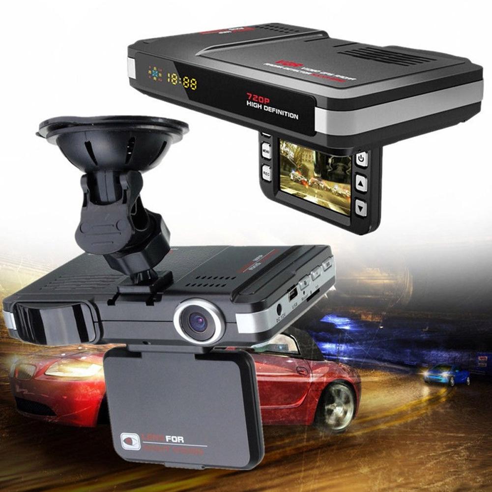2 In 1 Driving Recorder LCD Night Vision Traffic Alert MFP DVR Radar GPS 5MP Dash Camera TFT 2.0