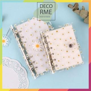 A6-A7 Bìa sổ nhựa dẻo Daisy phụ kiện sổ còng sổ planner bullet journal Decorme