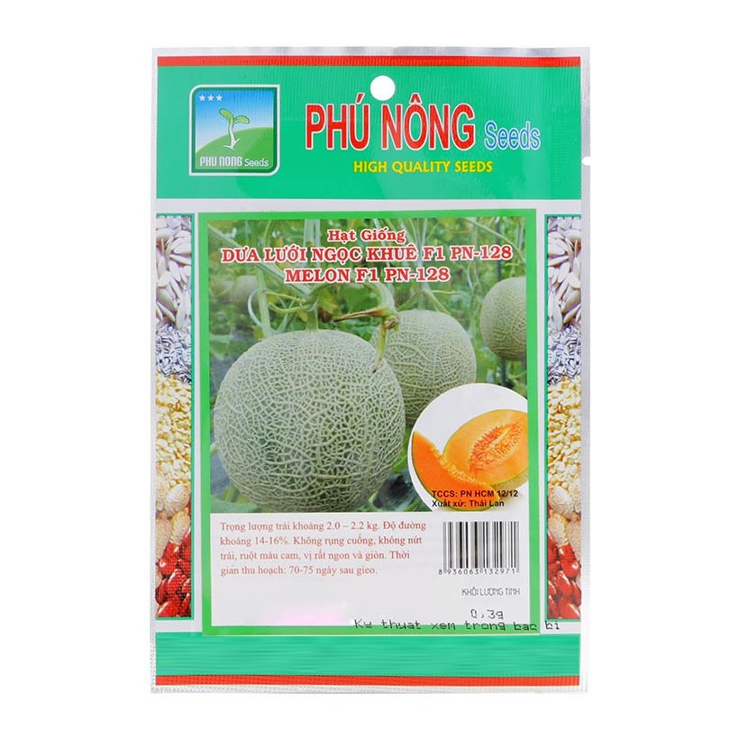 Hạt giống Dưa lưới Ngọc Khuê 128 Thái Lan Phú Nông (PN132971) - Gói 0.3g