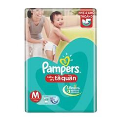 [NHẬP MKB65K GIẢM 65K ĐƠN TỪ 1TR] Bỉm Pamper quần Baby-Dry Jumbo đủ size M60/L54/XL48