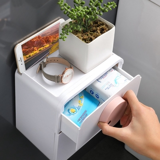 ❤ Toilet punch-free wall-mounted waterproof creative drawer creative roll holder ▶soto1