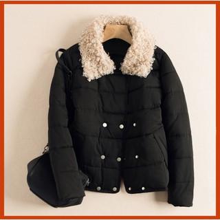 | HOT | SALE | Có sẵn – Áo phao nữ cotton mềm cổ phối lông cừu Đẹp Sẵn …
