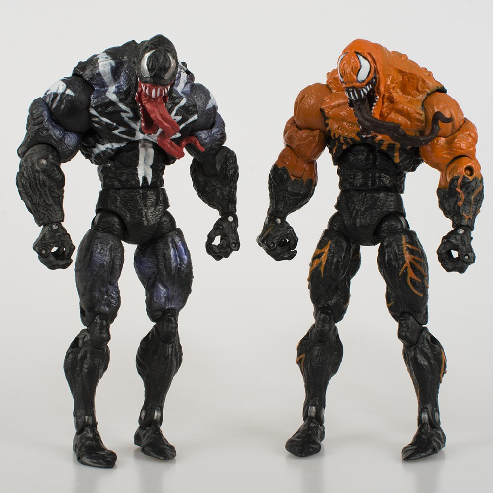 For Venom Black And Yellow Joints Movable Garage Kits Model Toy Dolls