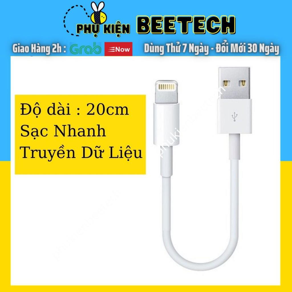 Cáp sạc Foxconn Ngắn 20cm Cho iPhone Sạc Điện và Truyển Dữ Liệu - Beetechvietnam