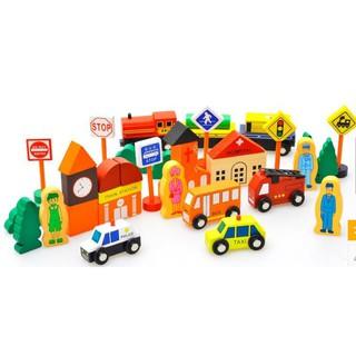 Bộ mô hình thành phố giao thông loại tổng hợp nhiều chi tiết cho bé trai