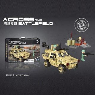 Lego Xe cảnh sát xe quân đội Chiến tranh quân đội XB 06024 PUBG Swat Army Soldier Battle
