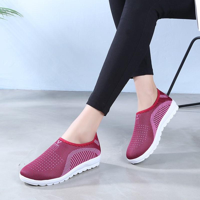 Giày lười nữ phong cách êm chân thoáng khí Size 36 đến 40