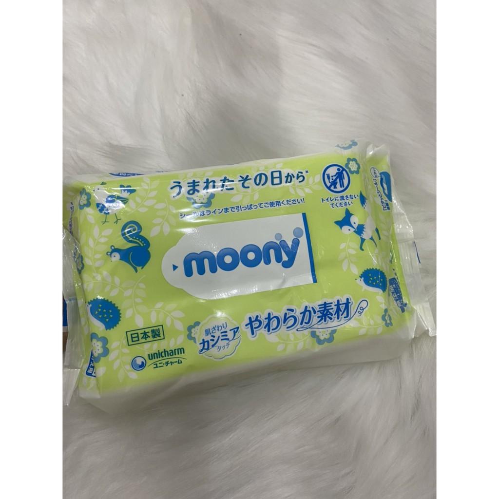 Khăn ướt Moony Nhật Bản gói 80 tờ