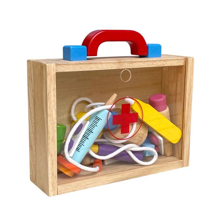 Đồ chơi bác sĩ bằng gỗ, đồ chơi nghề nghiệp tương lai của bé