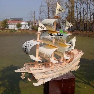 Đồ chơi gỗ I Mô hình thuyền Big Boss – Tàu thương lái thế kỉ