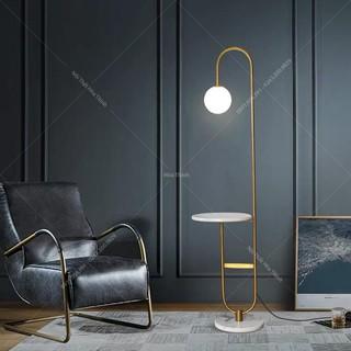 Đèn cây đứng, đọc sách, trang trí góc sofa decor không gian hiện đại HTDC-03, bảo hành 2 năm