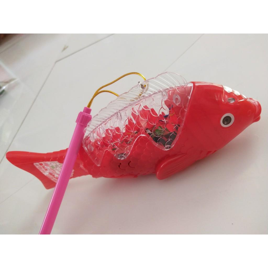 [HÀNG ĐẸP GIÁ TỐT]đồ chơi cho bé - Lồng Đèn Cá Chép Phát Nhạc Có Đèn Led Có Bánh Xe(...