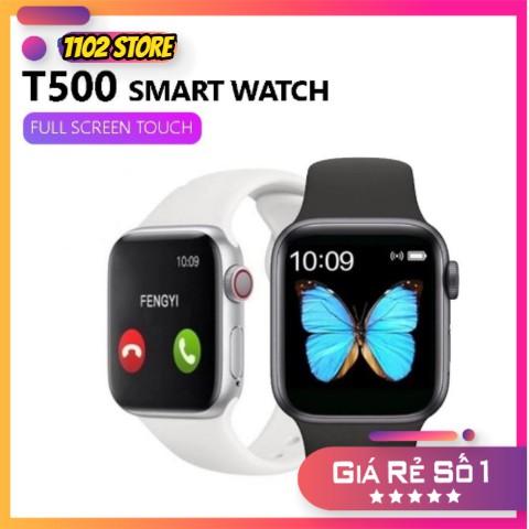Đồng hồ thông minh T500 thay được dây seri 5 kết nối bluetooth nghe gọi nhắn tin đo nhịp tim tiện dụng