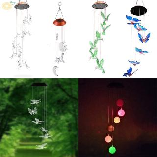 2018 Hummingbird Light Outdoor Garden Decor Lamp On/Off Yard High quality Color-Changing Wind Chime Wind Chime Light