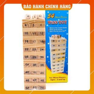 [GIAO NHANH] Trò chơi Rút gỗ Wiss Toy gồm 54 thanh gỗ – Giúp bé luyện tư duy và sự khéo léo