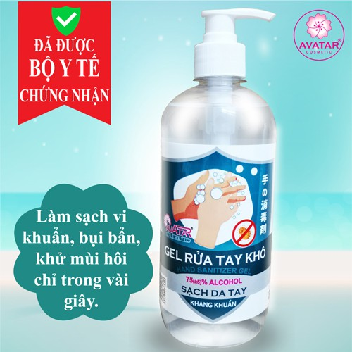 Nước rửa tay khô AVATAR diệt khuẩn tối đa 500ml/100ml/40ml