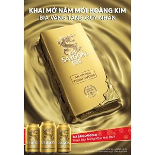 Bia Sài Gòn Gold tết 2021 phiên bản limited