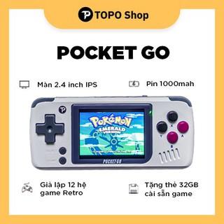 Máy chơi game Pocket Go – Giả lập 12 hệ game Retro, màn hình 2.4 inch IPS