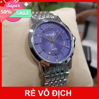 Đồng hồ nam Halei dây thép lụa bạc cao cấp chính hãng TONY WATCH 68