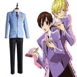 Anime Ouran High School Host Club Cosplay School Fujioka Haruhi School Men Uniform Outfit