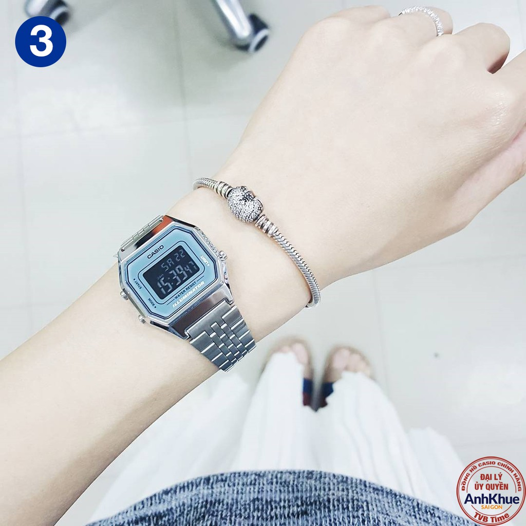 Đồng hồ nữ dây kim loại Casio Standard chính hãng Anh Khuê LA680 Series