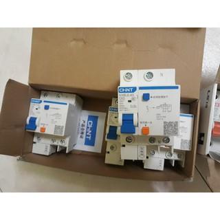 Attomat chống dòng dò/ chống giật Chint NXBLE-63 1P+N 63A