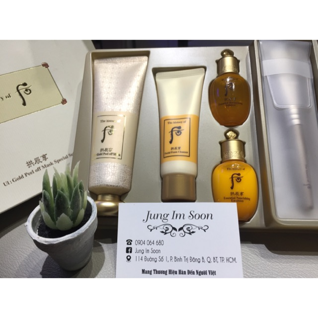 Set mặt nạ vàng WHOO UI: GOLD PEEL OF MASK SPECIAL SET
