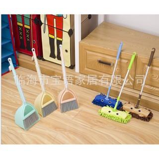 (Hàng có sẵn) Bộ chổi và cây lau giúp trẻ làm việc nhà