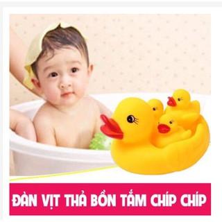 Đàn Vịt Thả Bồn Tắm 1 Vịt Mẹ To & 3 Con Nhỏ Cho Bé