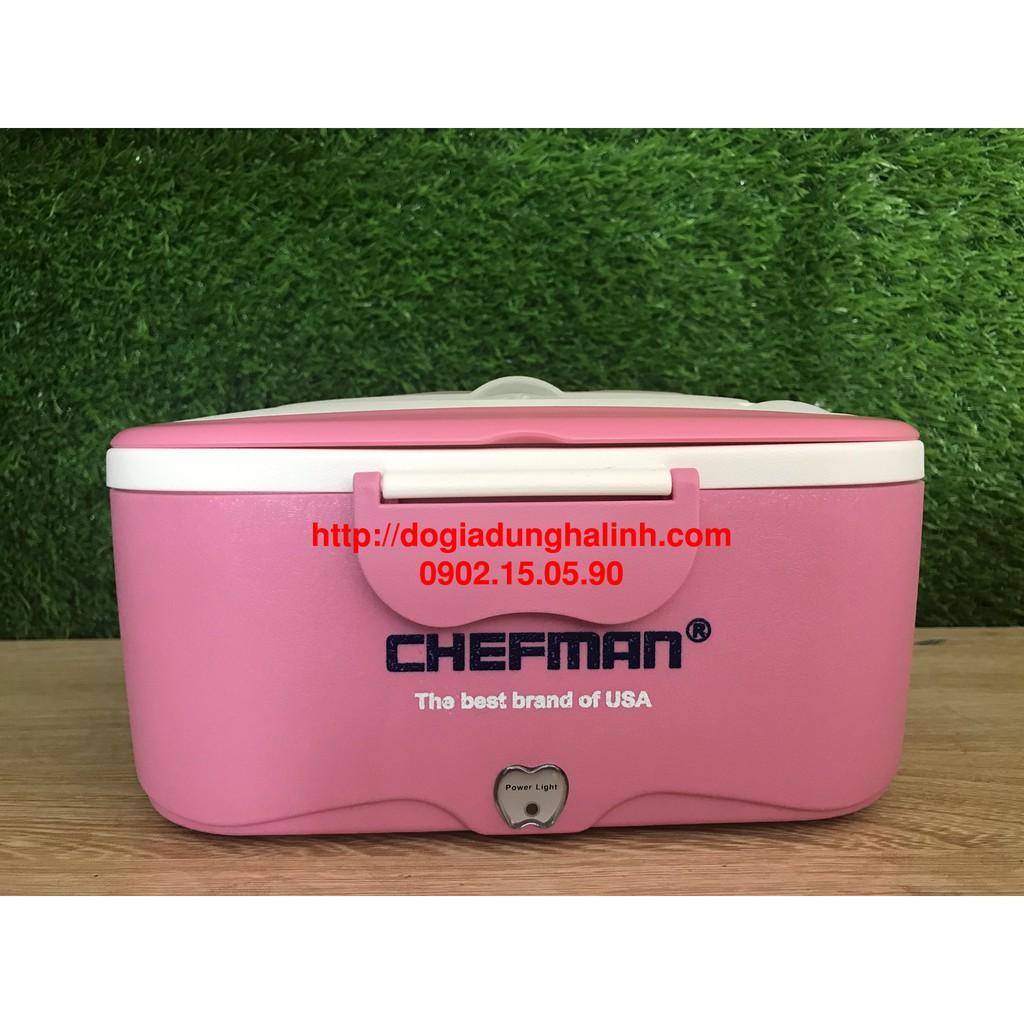 Hộp cơm hâm nóng Chefman CM-113i inox, Lõi inox 304, Bảo hành 24 tháng