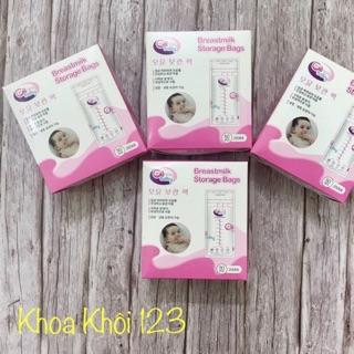Túi trữ sữa GB baby 250ml (mẫu mới)_ hộp 50 túi