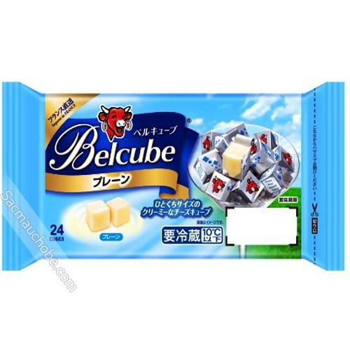 Phô mai Belcube Nhật xanh dương vị sữa 24 viên 125g