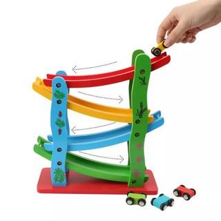 GIÁ SỐC- -HOT- Xe cầu trượt 4 tầng bằng gỗ – đồ chơi giáo dục