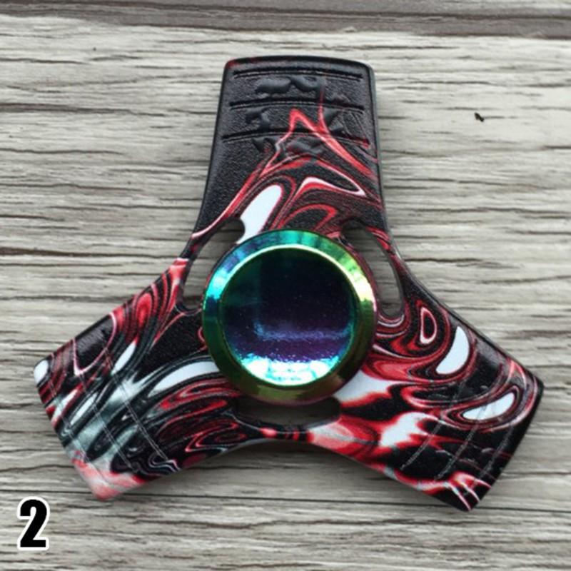 Colorful EDC Tri Fidget Hand Spinner Torqbar Focus AD Autism Finger Toy