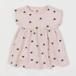 Áo váy tim hồng H&M có sẵn