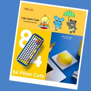 Combo bàn phím và chuột không dây Miffy 2.4G chính hãng Phiên bản Cute Chị em xếp hàng thumbnail
